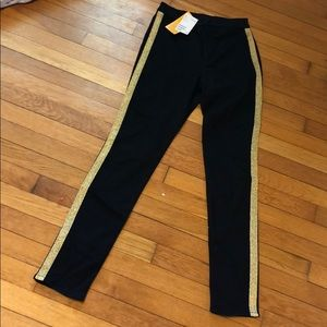 NWT Black Divided Jeans w/ gold stripe